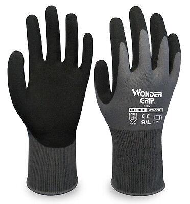 6 Pairs Child Garden Work Gloves Wonder Grip Nitrile Sandy Safety Gloves
