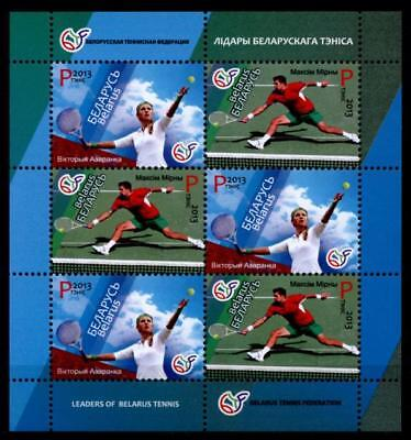 Tennisspieler Wiktoryja Asaranka & Max Mirny. KB. Weißrußland 2013