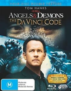 Blu-ray-4-Disc-Set-Angels-amp-Demons-The-Da-Vinci-Code-Tom-Hanks-boxed-set