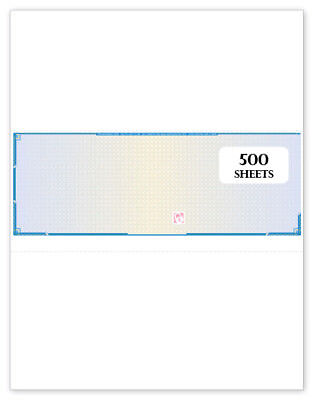 500 Sheets Blue Check in middle for payroll and accounts payable - High Security