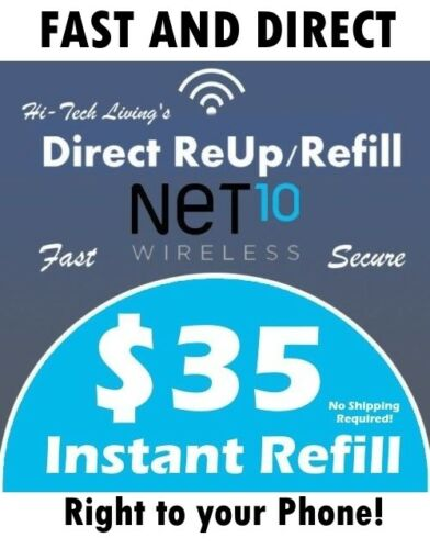 $35 NET10 FASTEST PREPAID REFILL DIRECT to PHONE 🔥GET IT TODAY🔥 TRUSTED SELLER