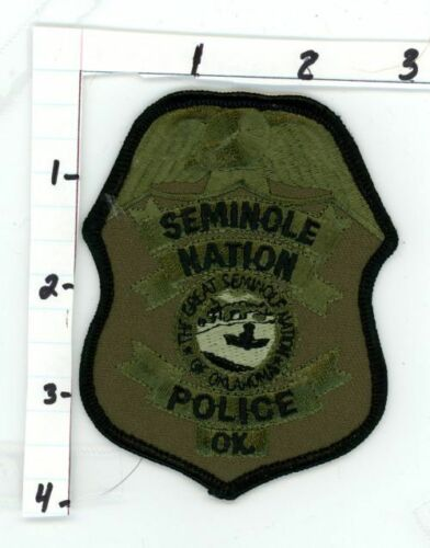 OKLAHOMA OK SEMINOLE NATION POLICE NEW PATCH SHERIFF SUBDUED SWAT STYLE