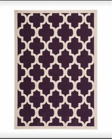 LILO purple and cream Pattern Rug *new*