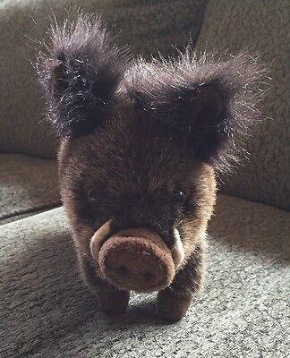 Plush Hansa Boar, Baby Animal Stuffed Toy Realistic Crafted Handmade