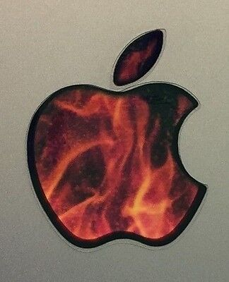 GLOWING FIRE FLAME Apple MacBook Pro Air Mac Sticker Logo Laptop DECAL 11-17inch for sale  Shipping to India