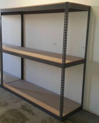 72 Wide Boltless Warehouse Storage Shelving Garage Rivet Racks Hd Shelf Rack