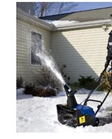 Electric snow thrower $65
