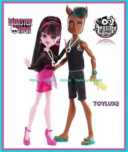 Monster High Music Festival CLAWD WOLF & DRACULAURA EXCLUSIVE New VIM 2 Doll Set