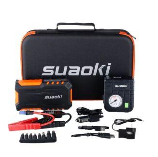 Suaoki Car jump starter Battery Charger Power Bank + 80 PSI air Pump