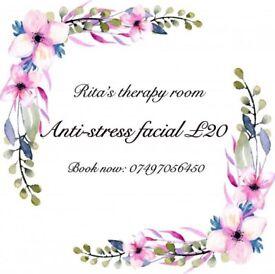 Luxury anti-stress facial £20