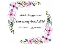 Luxury anti-stress facial £20