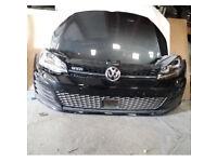Vw golf gtd front end mk7 bumper bonnet headlights