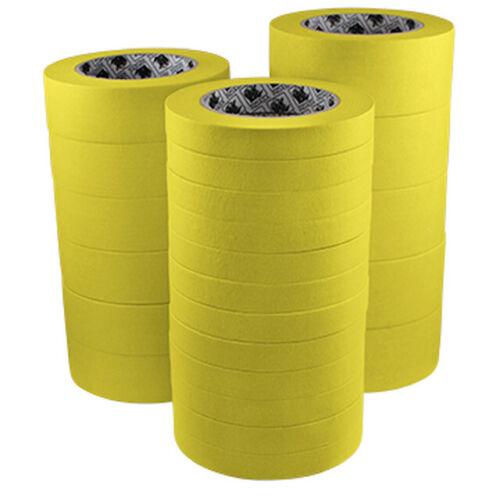 "Indasa 3/4 & 1-1/2"" Yellow Masking Tape - One Sleeve ea. Free Razor Blades"