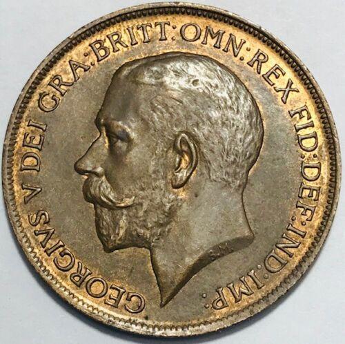 GREAT BRITAIN - George V - Penny 1911 - Km-810 - AU/UNC Slider