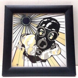 AS NEW Signed & Numbered Limited Edition Art Print in Black Frame