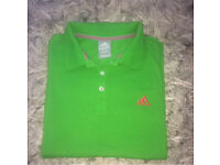 Adidas bright green polo UK16 but more of a 12/14