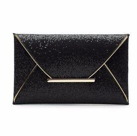 Luxury Sequined Envelope clutch bag