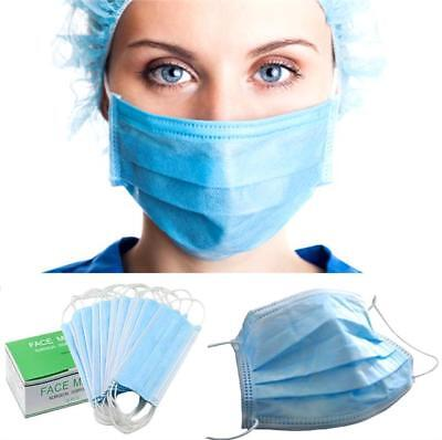 New Pack of 50 Disposable Face Mask Surgical Pleated Style with Dust Protection