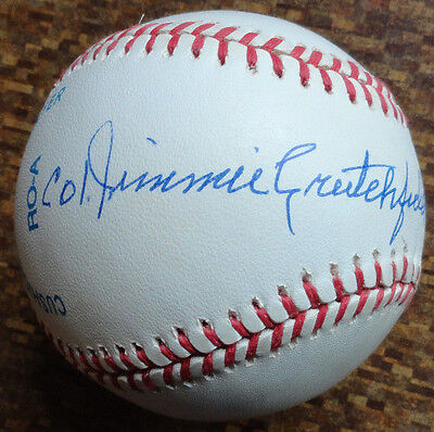Colonel Jimmie Crutchfield Psa Dna Oalb Negro Leagues Autograph Baseball Auto