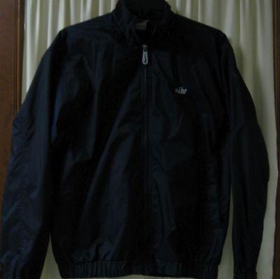 Nike Windbreaker Zip Nylon Jacket Navy Hidden Pocket Women's Sz M (8-10)   Hidden Zip Pocket
