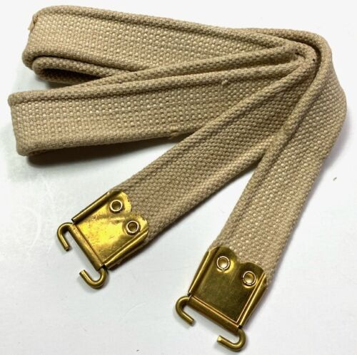 WWII BRITISH ENFIELD RIFLE CANVAS CARRY SLING-TAN
