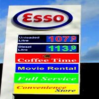ESSO GAS STATION,COFFEE TIME WITH PROPERTY ON SALE