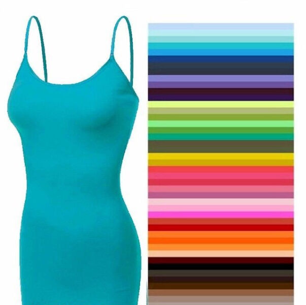 Long Cami With Built in Shelf BRA Tank Top S-M-L-XL  ZENANA DISCONTINUE-CLOSEOUT