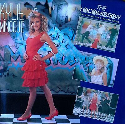 KYLIE MINOGUE - THE LOCOMOTION b/w I'LL STILL BE LOVING U - GEFFEN 45 + PIC. SLV