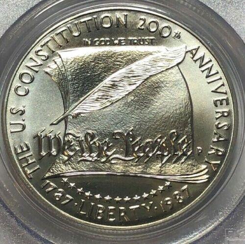 1987 P PCGS MS69 US CONSTITUTION Silver Commemorative Dollar $1 Brilliant Unc.