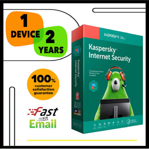 Kaspersky Internet Security Antivirus 2020 - 1 PC Device 2 YEAR - GLOBAL LICENSE