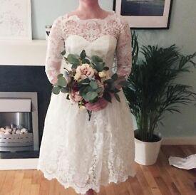 Chi Chi London Wedding Dress (size 10, never worn)