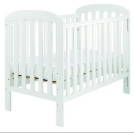 New White East Coast Cot & Mattress