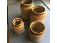 Stoneware preserve pots
