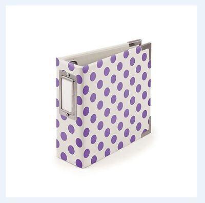 We R memory Keepers  4x4 Ring Album NEON PURPLE Polkadot -10pg ~30825-6 ()