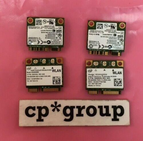 LOT OF 4 Dell 4W00N Centrino Ultimate-N 6300 802.11a/b/g/n Mini PCIe WiFi Card