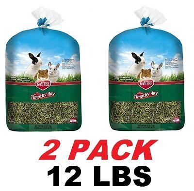Kaytee Natural Timothy Hay food for Rabbits Guinea Pig & more (12 LBS) EXP: 2020