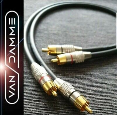 50CM VAN DAMME PRO CUSTOM AUDIOPHILE GOLD RCA PHONO INTERCONNECTOR CABLE LEADS