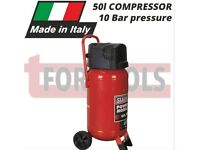 SEALEY SAC05020 COMPRESSOR 50LTR BELT DRIVE 2HP OIL FREE 10 BAR / 7.3CFM UPRIGHT VERTICAL