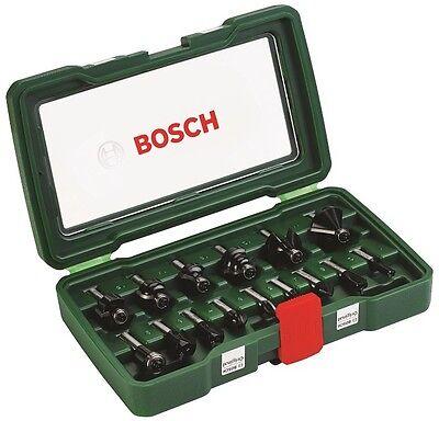 Bosch HM Fräser Set, 8mm Schaft, 15 tlg. für Oberfräse