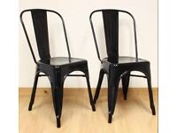 Wanted. 2 black Tolix/ industrial style chairs.