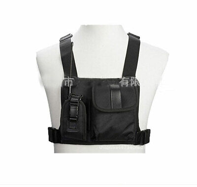 New Chest Harness Nylon Bag Radio Walkie Talkie Use Pack Backpack Holster