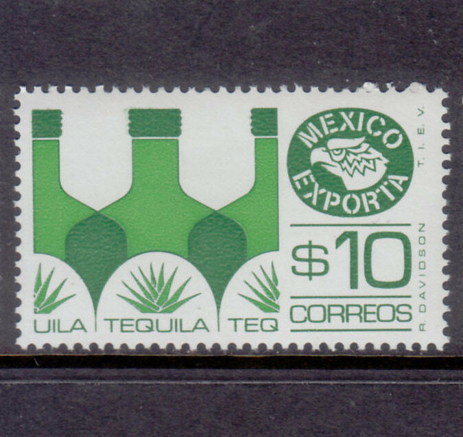 Mexico Exporta #1125b Tequila PAPER 8 fluorescence frt gum white Mint NH