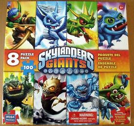 Skylanders Giants Puzzle Pack 8 x Jigsaw Puzzles