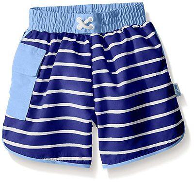 - NEW i play. Baby Boys' Striped Pocket Trunks with Swim Diaper, Royal Stripe, 6