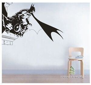 Batman wall art decal uni design wall decals mural decor for Batman mural wallpaper uk