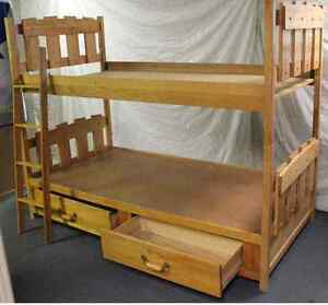 Bunk Beds - solid maple hardwood