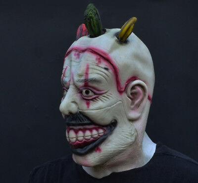 Creepy Evil Scary Halloween Clown Mask Rubber Latex TWISTY CLOWN