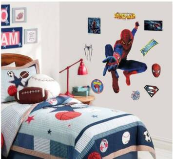 Spiderman Self Adhesive Removable Boy Room Decal Wall Sticker