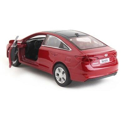 Dos Minicar 1:38 Size Miniature Hyundai Sonata Red Display Model Diecast_mg