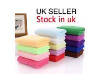 10 X large microfiber towels/ clothes 70cm X 30cm Assorted bright colours.